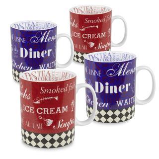 Konitz American Diner Mugs (Set of 4)