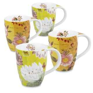 Konitz Lotus and Fruit Tea Flower Mugs (Set of 4)