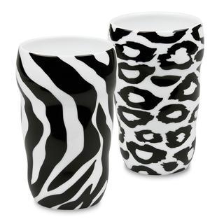 Konitz Double Walled Leopard and Zebra Grip Mugs