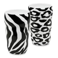 Konitz Double Walled Leopard and Zebra Grip Mugs