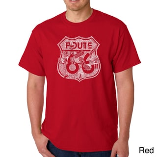 Los Angeles Pop Art Men's 'Stops Along Route 66' T-shirt