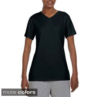 Hanes Women's Cool DRI V-neck T-shirt