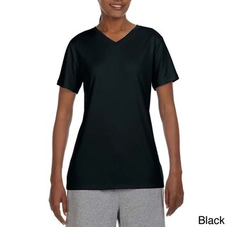 Hanes Women's Cool DRI V-neck T-shirt (More options available)