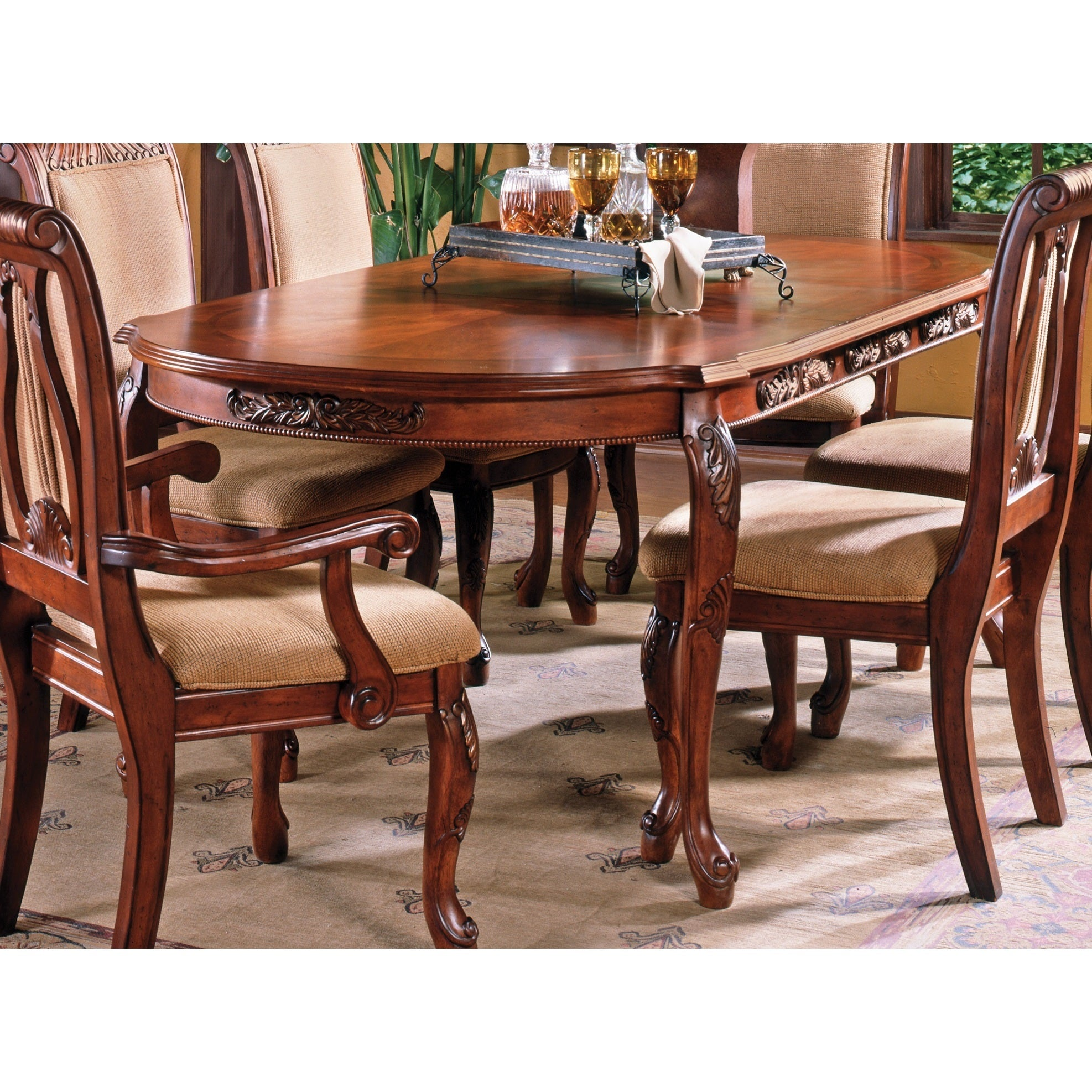 Melodie Cherry Finish 84 Inch Dining Table By Greyson Living Overstock 9082852