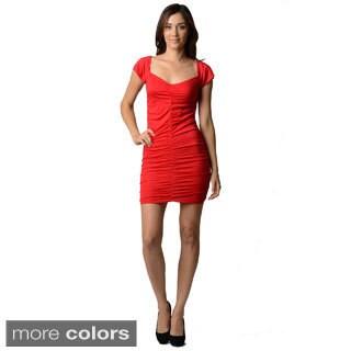 Stanzino Women's Cap Sleeve Casual Stretch Dress