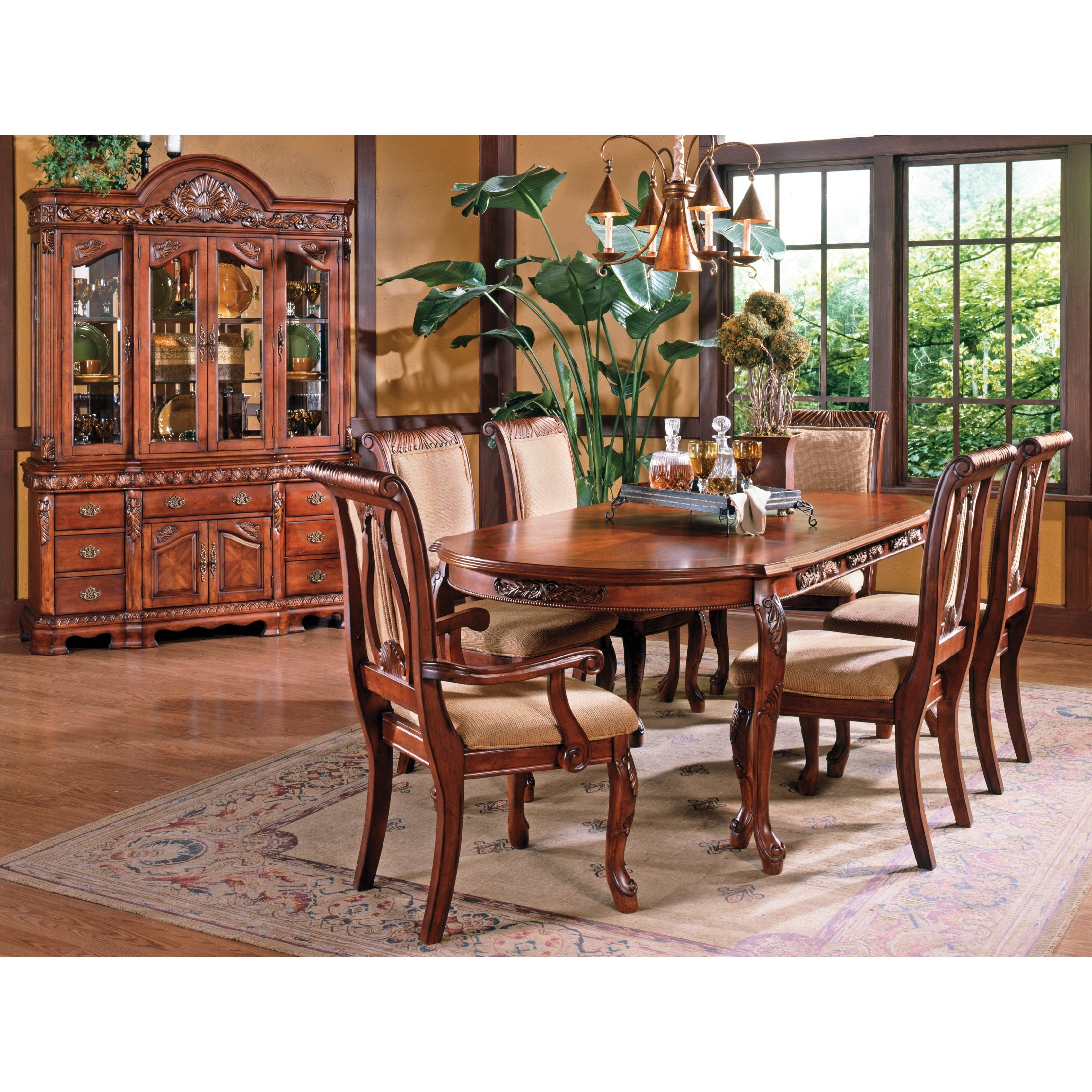 Melodie Traditional Dining Set with Optional Buffet and H...