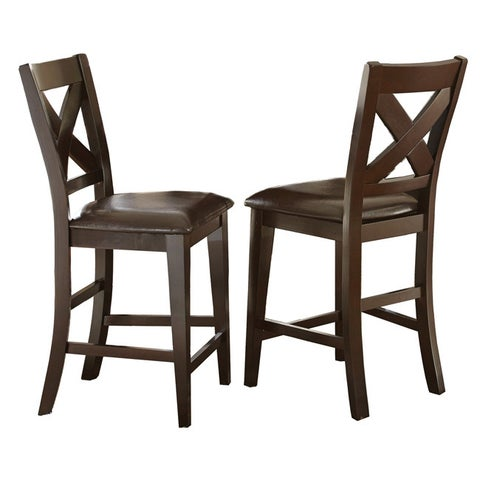 Copley 24-inch Counter Height X-Back Chair by Greyson Living (Set of 2) - 43 inches high x 22 inches deep x 19 inches wide