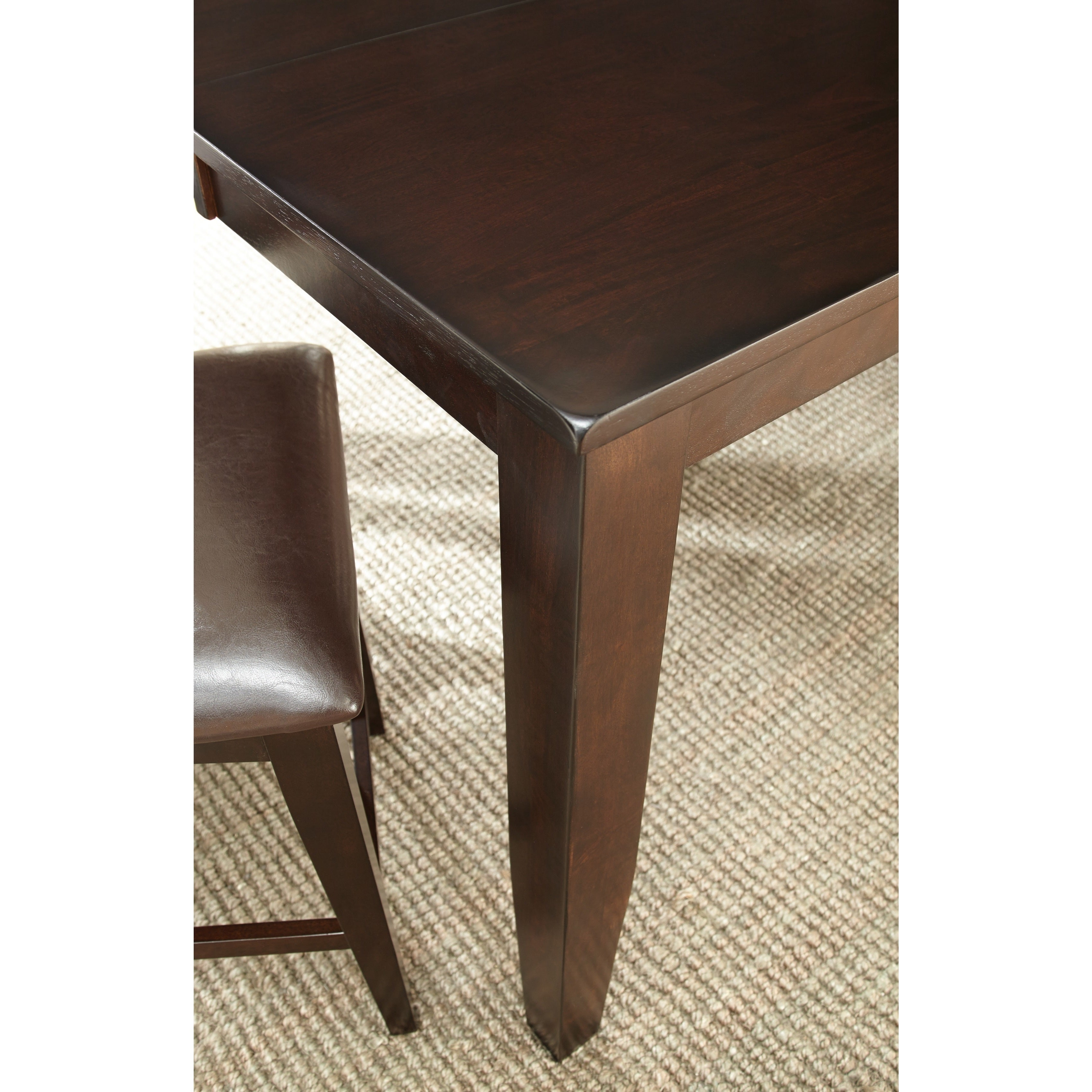 Copley Counter Height Dining Set with Self Storing Leaf b...