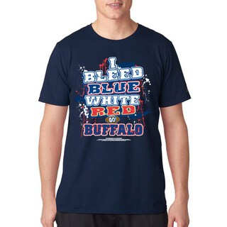 Men's Buffalo Football 'I Bleed Blue, White & Red Go Buffalo!' T-shirt