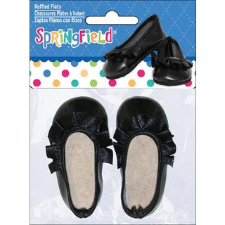 Springfield Collection Ruffled Flats-Black
