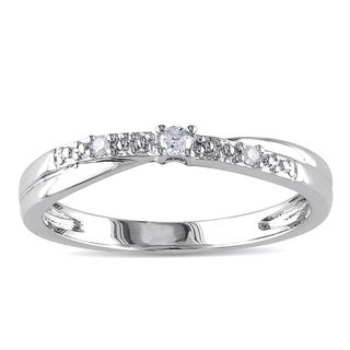 Miadora Sterling Silver Diamond Accent Promise Ring
