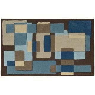 Nourison Textures Blue Accent Rug (1'8 x 2'8)