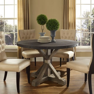 Stitch Wood Top Dining Table