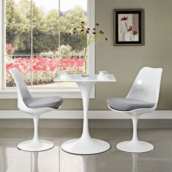 """Lippa Wood Top 24"""" White Dining Table"""