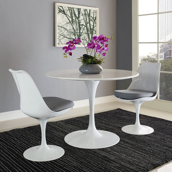 Lippa Wood Top 40 Quot Dining Table In White Free Shipping