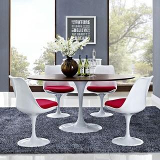 "Lippa Walnut Veneer 60"" Oval-shaped Dining Table"