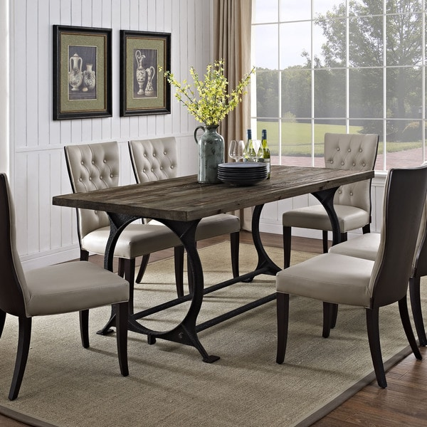 Effuse Wood Top Dining Table - Free Shipping Today - Overstock.com ...