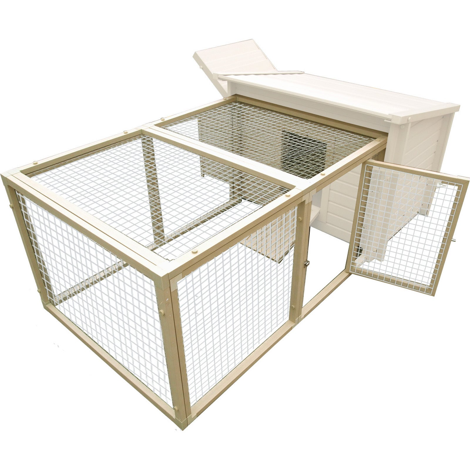 New Age Pet Fontana Chicken Pen with Stainless Steel (Sil...