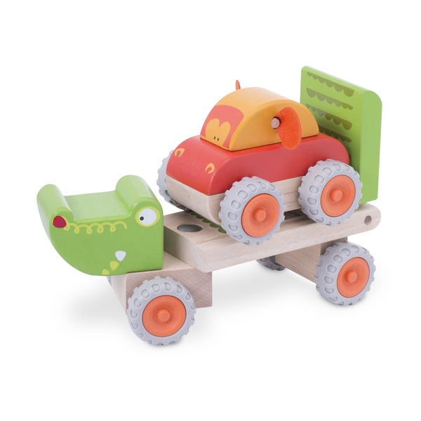 Crocodile Trailer Wooden Vehicle
