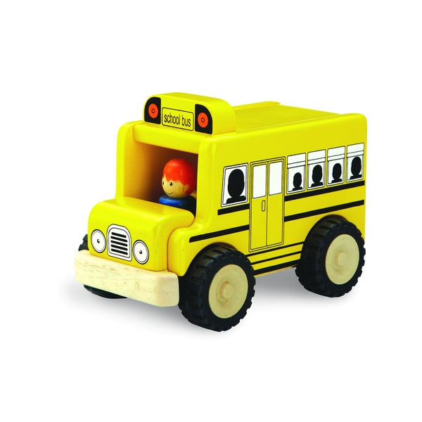 Mini School Bus Wooden Toy