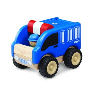 Mini Police Car Wooden Toy Vehicle