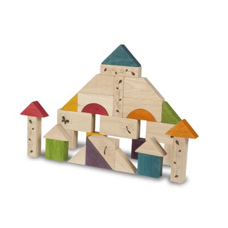 Natural Wooden Blocks Toy Set