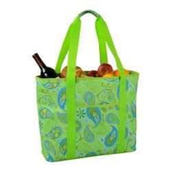 Picnic at Ascot Large Insulated Cooler Tote Paisley Green