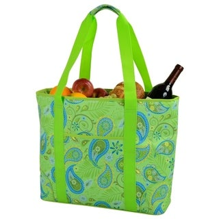 Picnic at Ascot Extra Large Insulated Cooler Bag - 30 Can Tote - Paisley Green