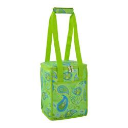 Picnic at Ascot Modern Collapsible Cooler Paisley Green