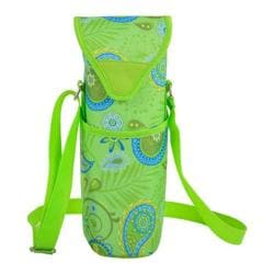 Picnic at Ascot Paisley Green Single Bottle Tote 13in (Pair of 2) Paisley Green