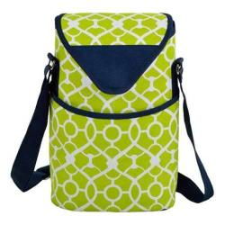 Picnic at Ascot Two Bottle Tote 13in Trellis Green