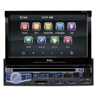 BOSS AUDIO BV9976B Single-DIN 7 inch Motorized Touchscreen DVD Player|https://ak1.ostkcdn.com/images/products/9084082/P16274609.jpg?impolicy=medium