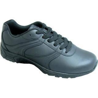 Women's Genuine Grip Footwear Slip-Resistant Athletic Plain Toe Work Shoes Black Leather|https://ak1.ostkcdn.com/images/products/9084324/P16274803.jpg?impolicy=medium