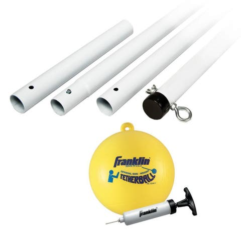 Franklin Sports Recreational Tetherball Set - White Yellow Black