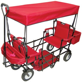 Creative Outdoor Double Seat Folding Wagon Free Shipping