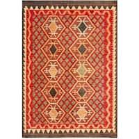 Herat Oriental Afghan Hand-woven Tribal Wool Kilim - 4'2 x 5'10
