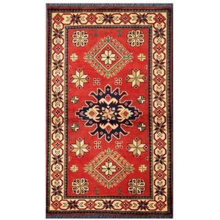 Herat Oriental Afghan Hand-knotted Tribal Kargahi Wool Rug (2'9 x 4'4)