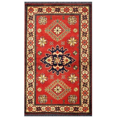 Handmade One-of-a-Kind Kargahi Wool Rug (Afghanistan) - 2'9 x 4'4