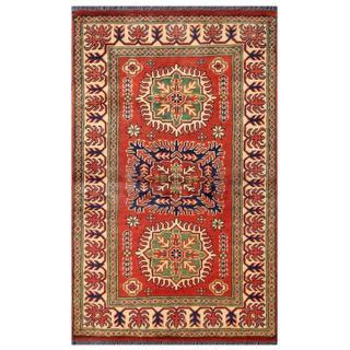 Herat Oriental Afghan Hand-knotted Tribal Kargahi Wool Rug (2'8 x 4'4)