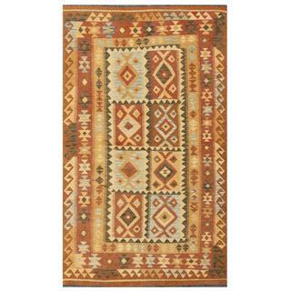 herat oriental afghan handwoven tribal wool kilim 4u002711 x 8u0027