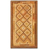 Handmade Herat Oriental Afghan Tribal Wool Kilim (Afghanistan) - 4'9 x 8'4