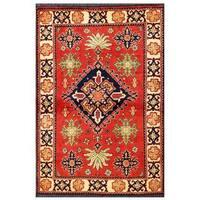 Herat Oriental Afghan Hand-knotted Tribal Kargahi Wool Rug (3'6 x 5'2) - 3'6 x 5'2