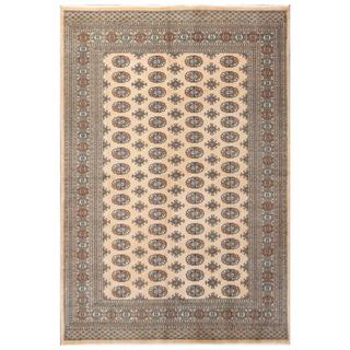Herat Oriental Pakistani Hand-knotted Bokhara Wool Rug (6' x 8'9)