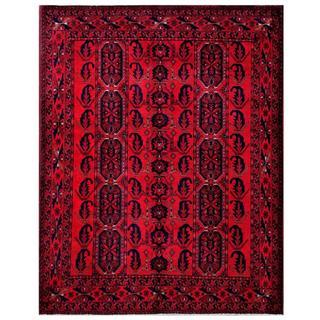 Herat Oriental Afghan Hand-knotted Tribal Khal Mohammadi Wool Rug (5' x 6'4)