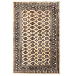 Herat Oriental Pakistani Hand-knotted Bokhara Wool Rug (5'1 x 8')