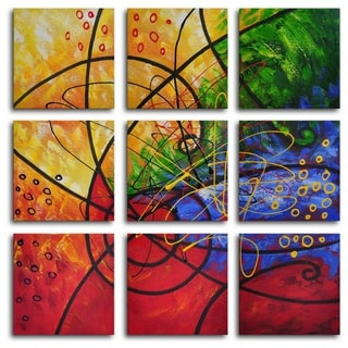 Hand-painted 'Stained Glass' Oil Painting