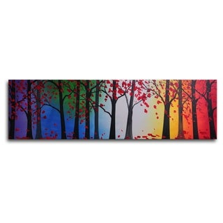 Hand-painted 'Trees Hold Hands' Oil Painting