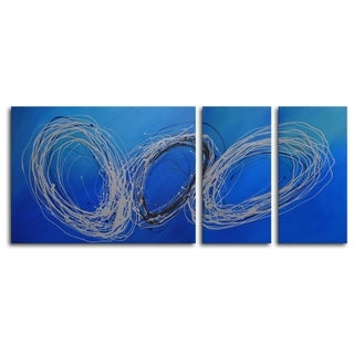 Hand-painted 'Coils of Wire' Oil Painting