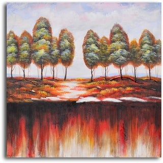 Hand-painted 'Washed-Out Earth' Oil Painting