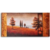 Hand-painted 'Headed to the Valley' Oil Painting